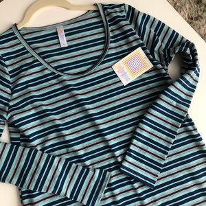 Lularoe Lynnae Stripe Long Sleeve
